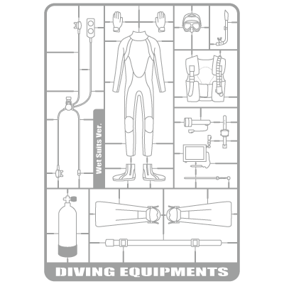 Diving Equipments(Wet Suits Ver.)