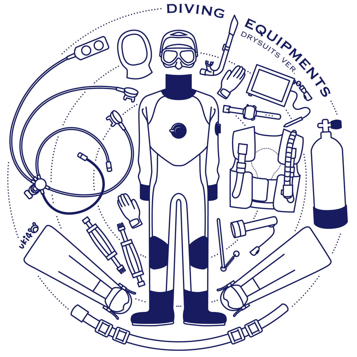 DIVING EQUIPMENTS drysuits ver.[02]